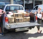 Bénévoles pour la distribution