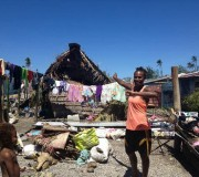 Cyclone Pam destroyed LinLin's house, a member of Vanuatu's Beach volleyball champion team.